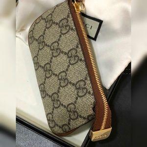 ce8fddfa0b99 Gucci Accessories - Gucci Key Case Zip Pouch Mini Wallet Change Ring